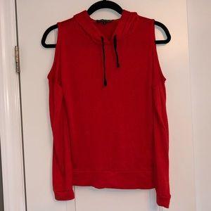 Red-orange Steve Madden long-sleeve pullover